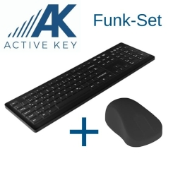 ACTIVE KEY Funk-Aktionsbundle schwarz Hygienetastatur + Hygienemaus